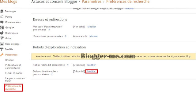 header tag blogger