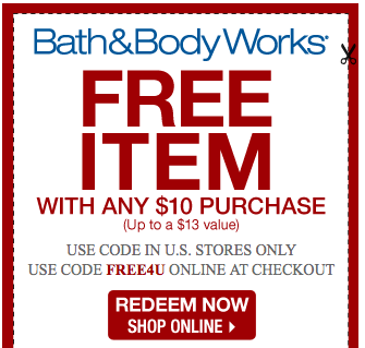 Bath and works coupons