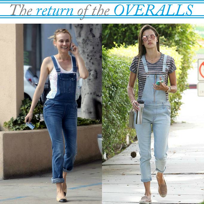 Denim Overall Trend, Celebrities in Denim Overalls, Denim Dungarees, Denim Overalls for spring, Boyfriend Denim Overalls