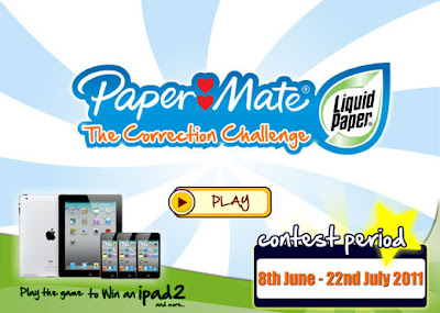 Paper Mate 'The Correction Challenge' Contest