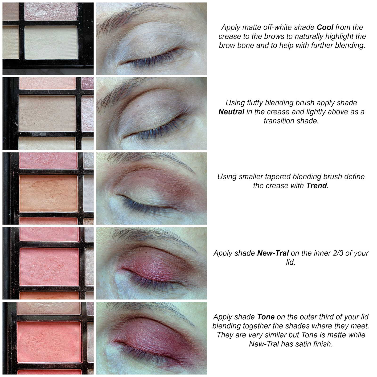 MUR New-Trals vs Neutrals palette makeup look tutorial