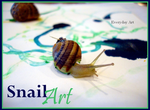 painting picture: snail art