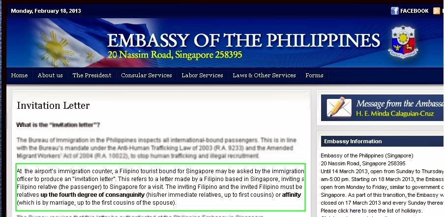 Hahpiness philippine embassy invitation letter at the airports immigration counter a filipino tourist bound for singapore may be asked by the immigration officer to produce an invitation letter stopboris Gallery