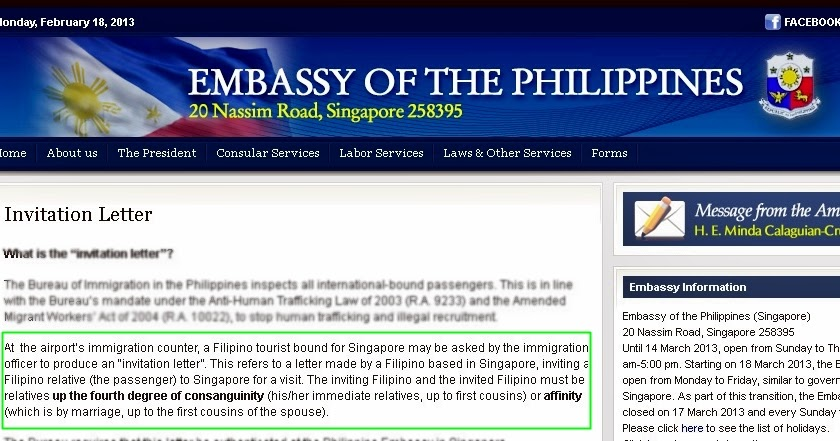 Hahpiness philippine embassy invitation letter stopboris Gallery