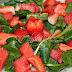 Watercress, watermelon and strawberry  Salad