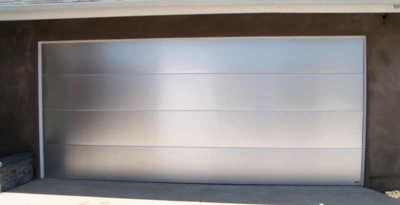 modern metal garage door. Stainless Steel Garage Door Modern Metal A