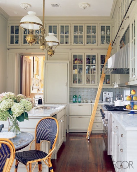 Peonies + Brass: Library Ladders In The Kitchen, And Other