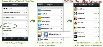 wechat facebook plugins
