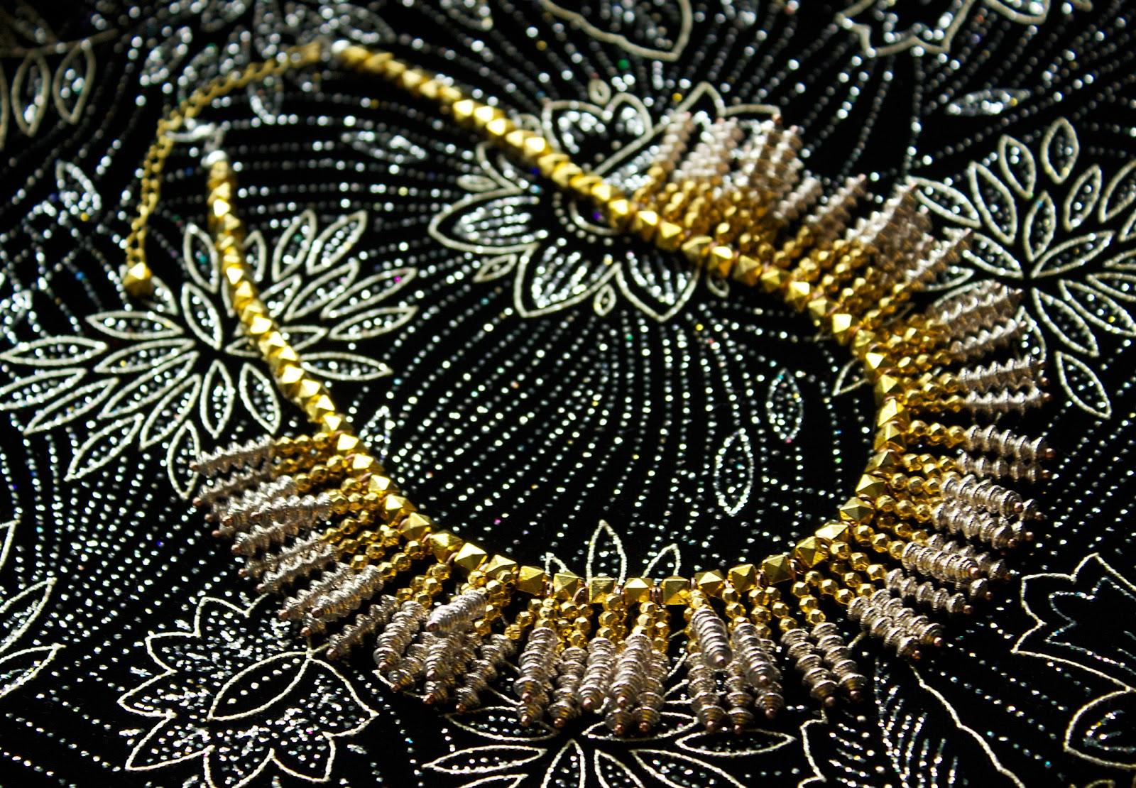 stardust sparkler necklace tutorial by allison beth cooling
