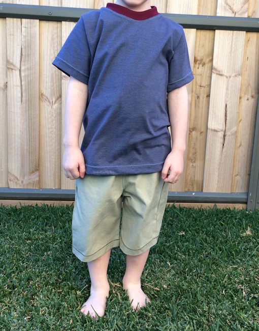 Charlie Tee... pattern review. T-shirts refashioned from pre-loved garments, using pattern by Fishsticks Designs ~ Threading My Way