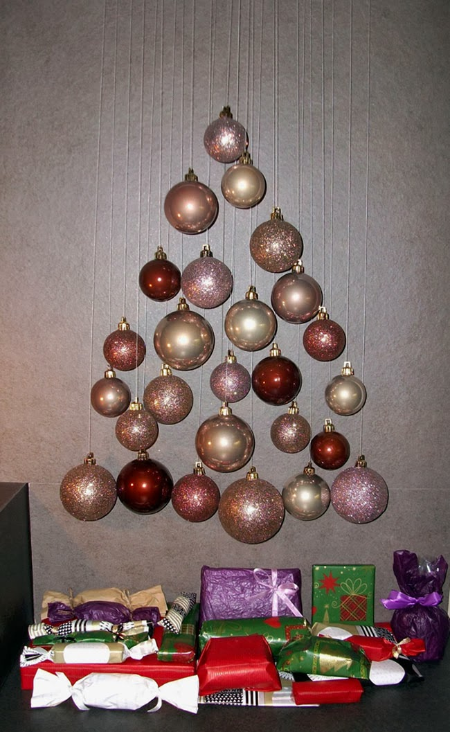 modern christmas tree, advent calendar