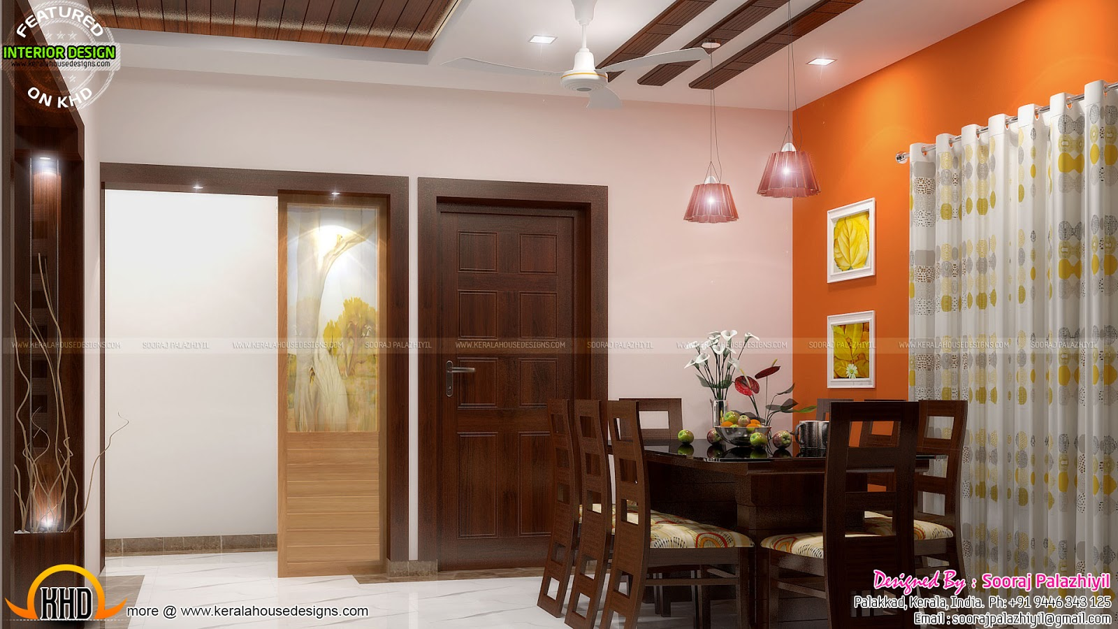 Simple apartment interior in kerala kerala home design for Dining room designs kerala