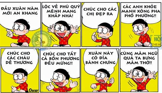 Thơ chúc Tết của Nobita