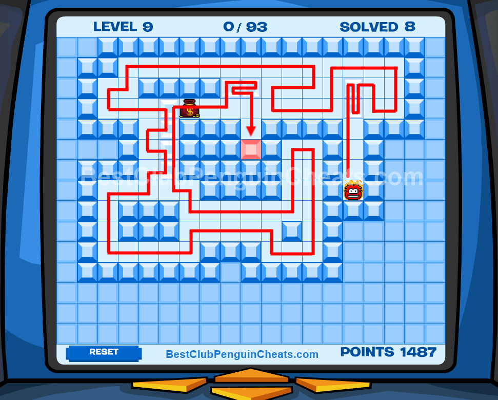 Club Penguin Thin Ice Cheats Level 9