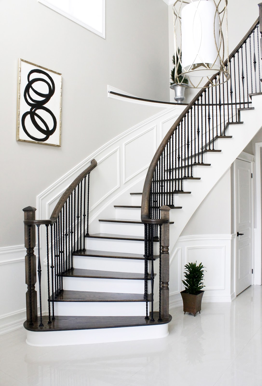 Painting Foyer Stairs : Am dolce vita painted staircase reveal