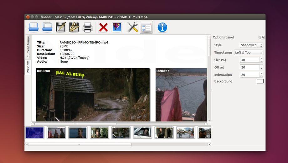Videocut in Ubuntu