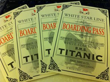 R.M.S. Titanic Boarding Pass Replica