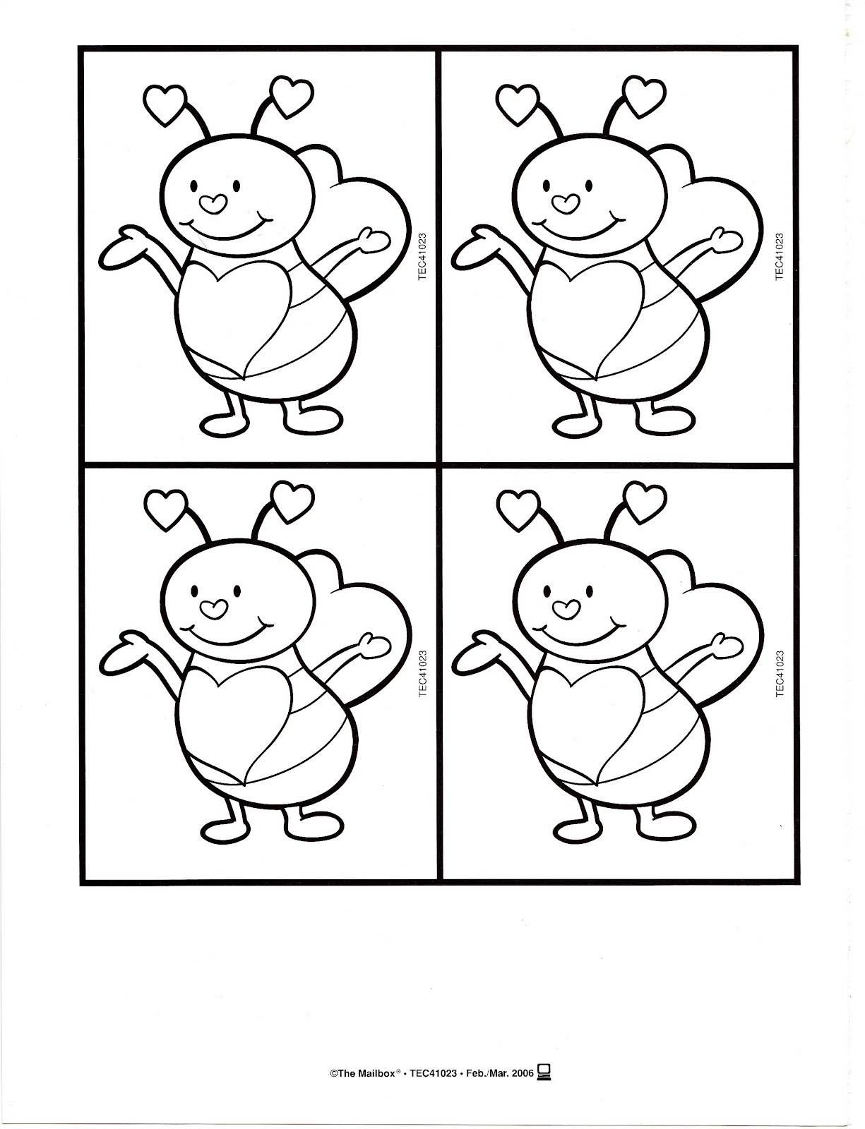 Bumble Bee Coloring Pages for Preschoolers Free Download