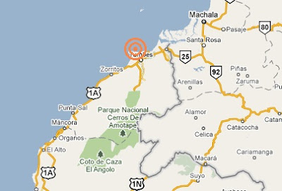 epicentro del sismo en tumbes peru