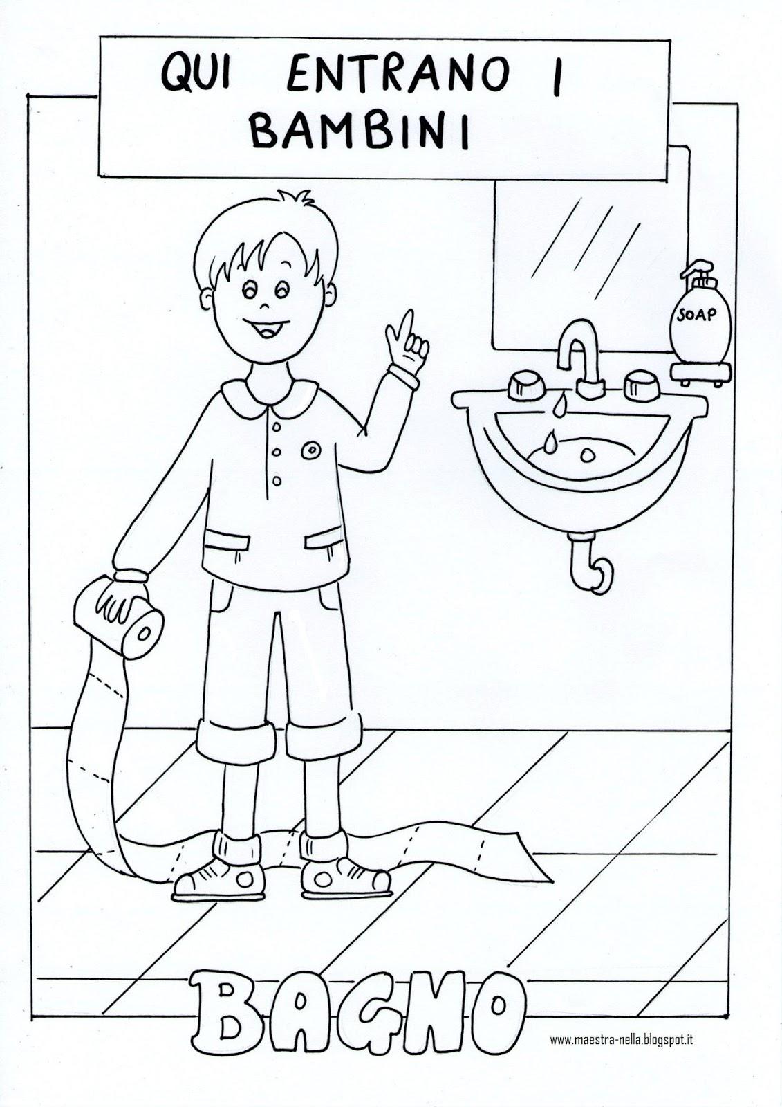 Maestra nella cartelloni per la porta del bagno - Non vado in bagno ...
