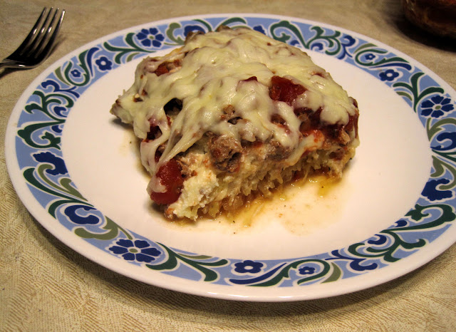 low carb spaghetti squash lasagna recipe