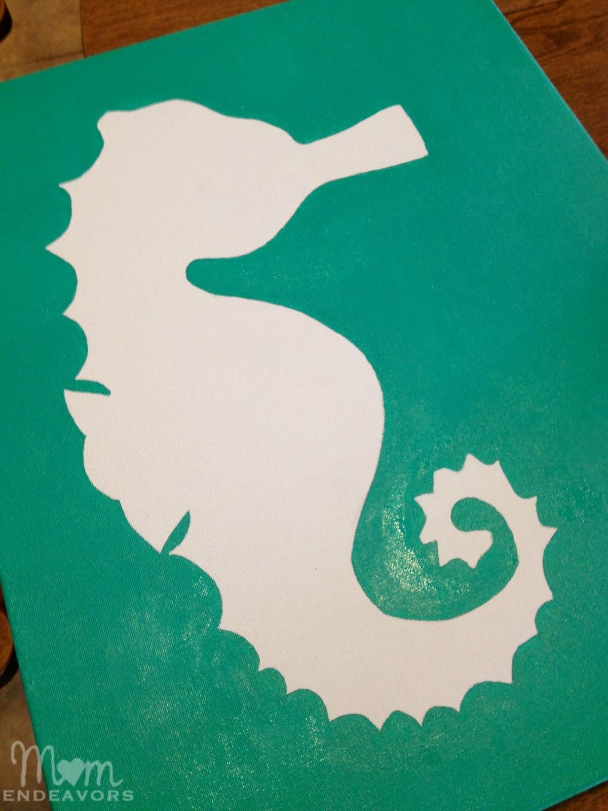seahorse DIY art