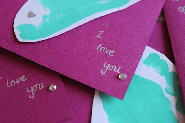 Handmade Valentine Card by Toddler/Baby | Sprinkle of Glitter