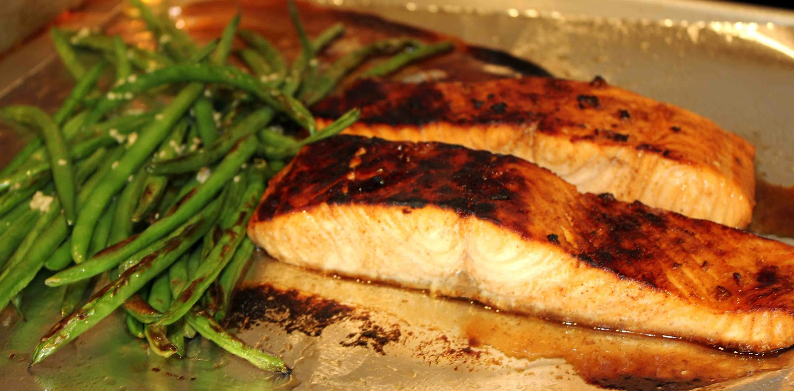 Five-Spice-Glazed Salmon with Sesame Green Beans – Dallas ...