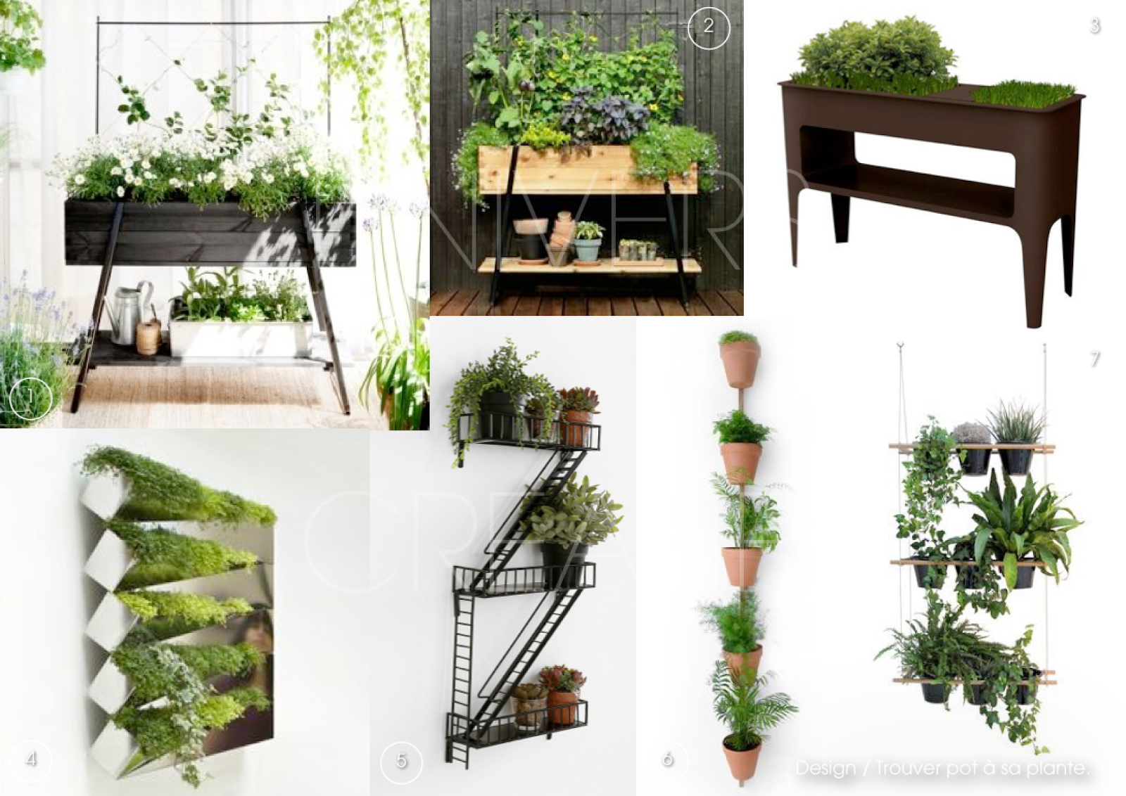 Univers creatifs design trouver pot sa plante for Porte plante mural interieur