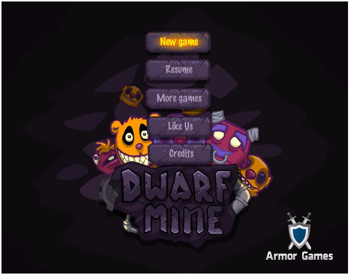 Armor Game : Dwarf Mine