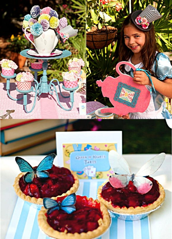 Focus on tea table styled shoot alice in wonderland mad - Alice in wonderland tea party decorations ...