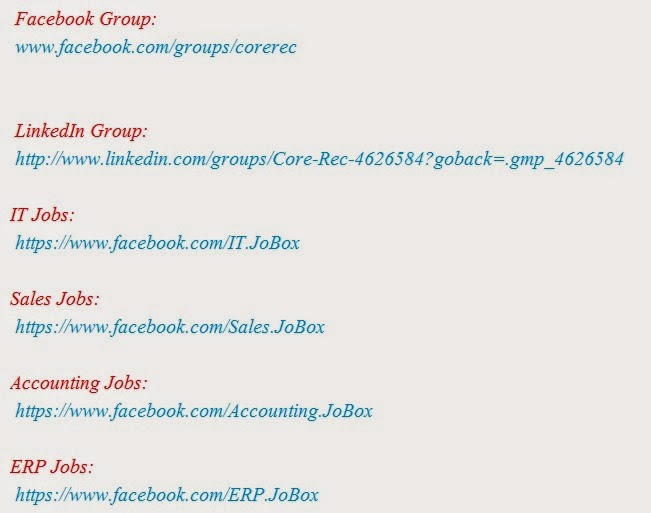 Facebook groups to find suitable job