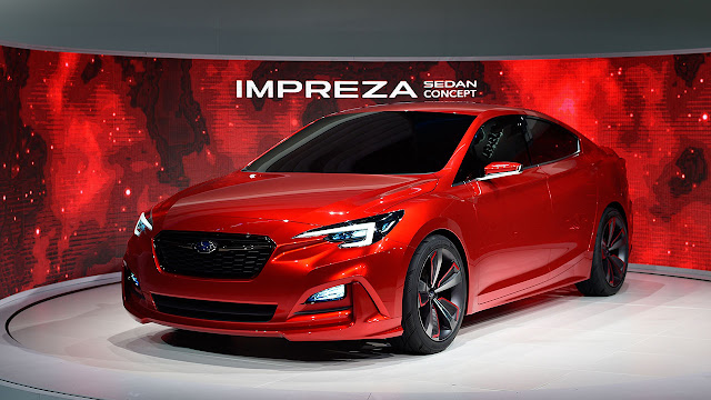 "Subaru ""Impreza Sedan Concept"" made world debut at 2015  Los Angeles Auto Show"