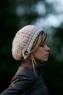 Knitted beanie hat pattern