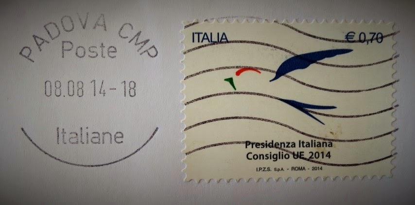 Francobollo celebrativo del Semestre di presidenza italiana dell'Unione Europea