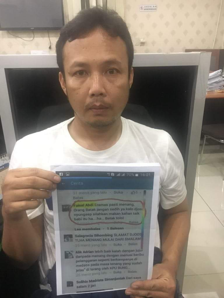 Penghina Suku Batak di Medsos Ditangkap Cybercrime Polda Sumut