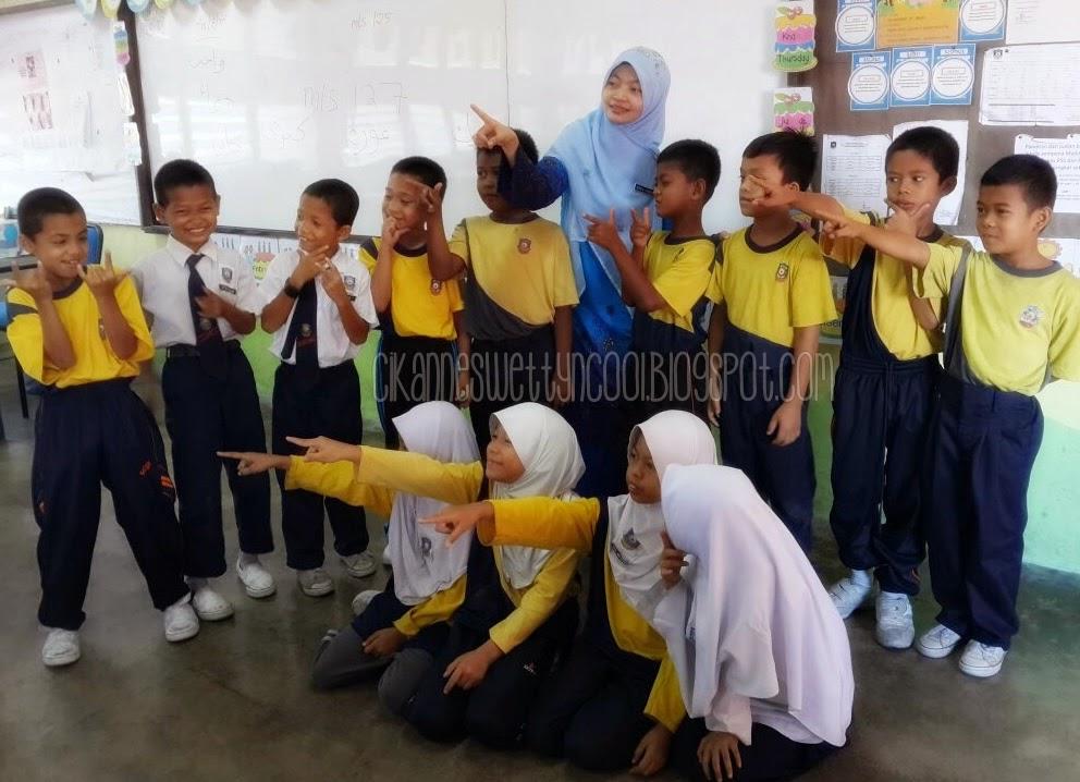 posing dengan murid kelas hujung