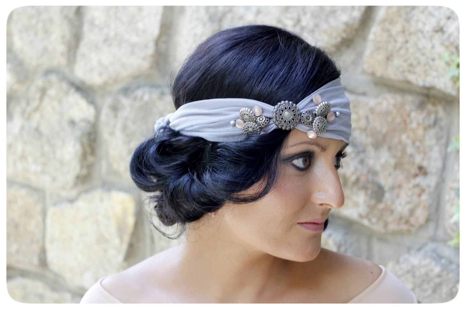 Hermanas bolena outfit de boda tocado a os 20 segunda parte - Como hacer peinado para boda ...