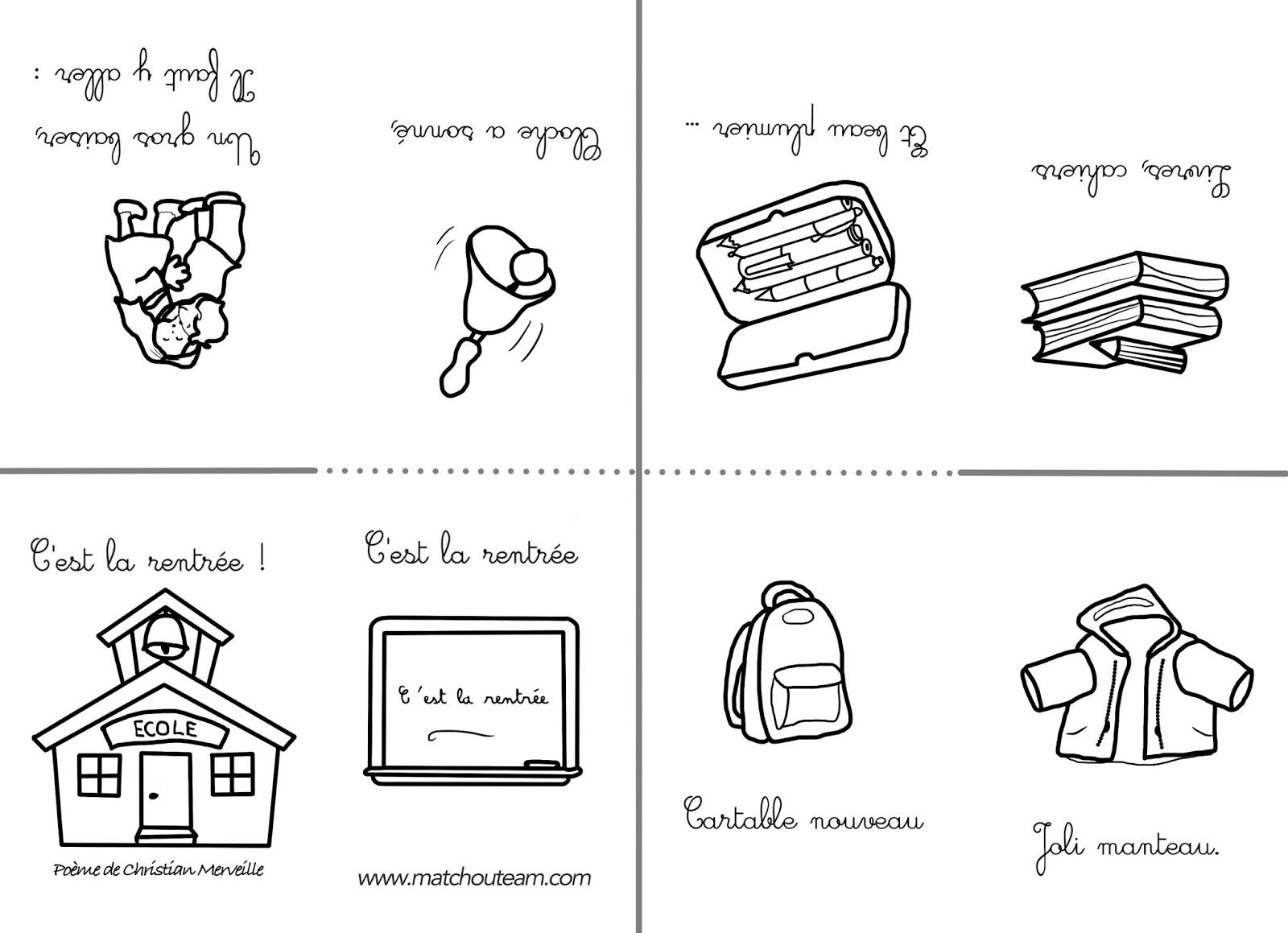 poésie pour la rentrée scolaire
