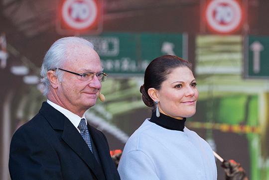 King Carl Gustaf and Crown Princess Victoria