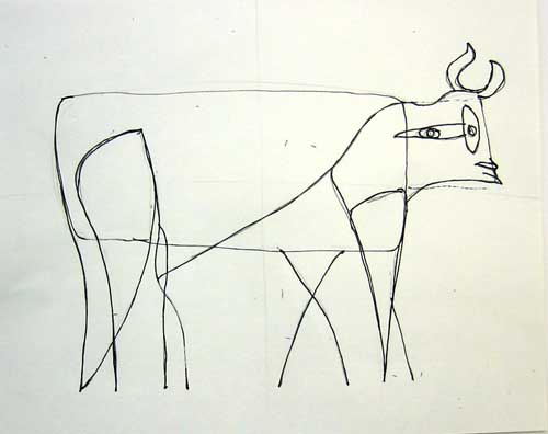 Picasso Line Art Animals : Rumriver art center projects for homeschoolers