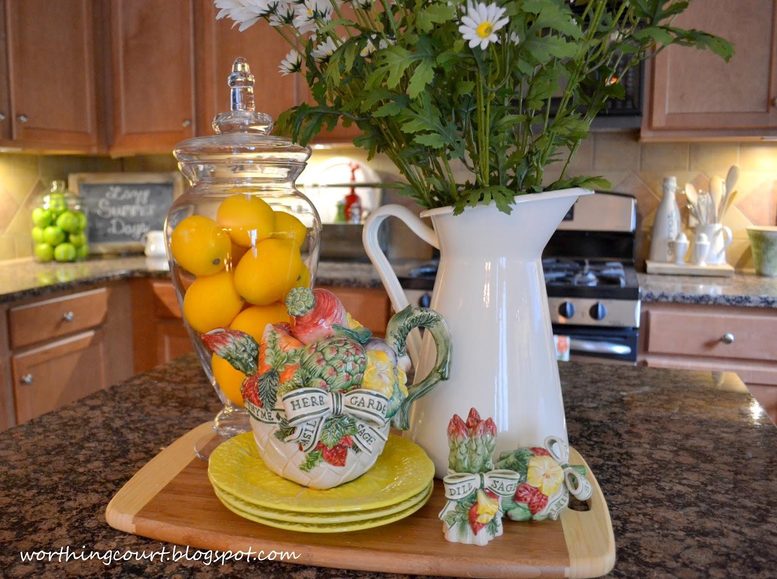 a summer vignette in the kitchen worthing court
