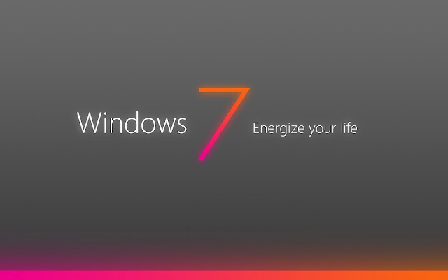 Grijze Windows 7 bureaublad achtergrond