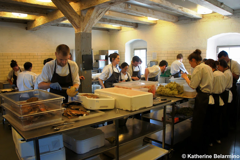 noma prep kitchen Copenhagen Denmark