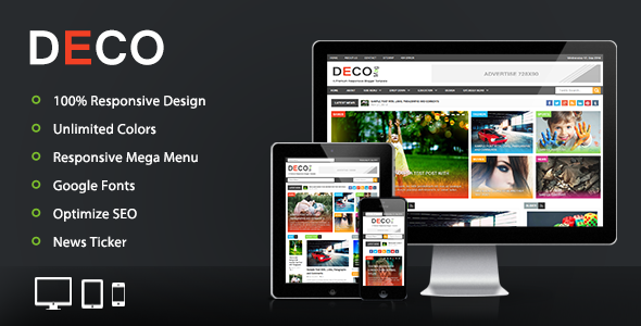 Deco Mag Responsive Magazine Blogger Template Download New Themes