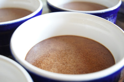 Easy custard cooked in ramekins