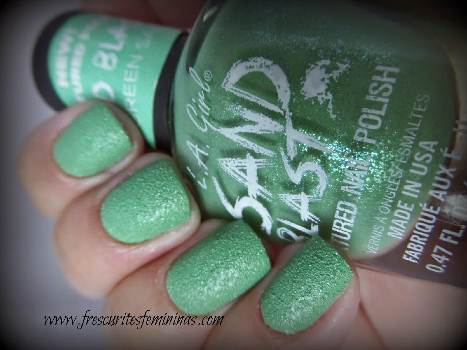 L.A. Girl, Green Sand, Frescurites Femininas, Green nail polish, Esmalte