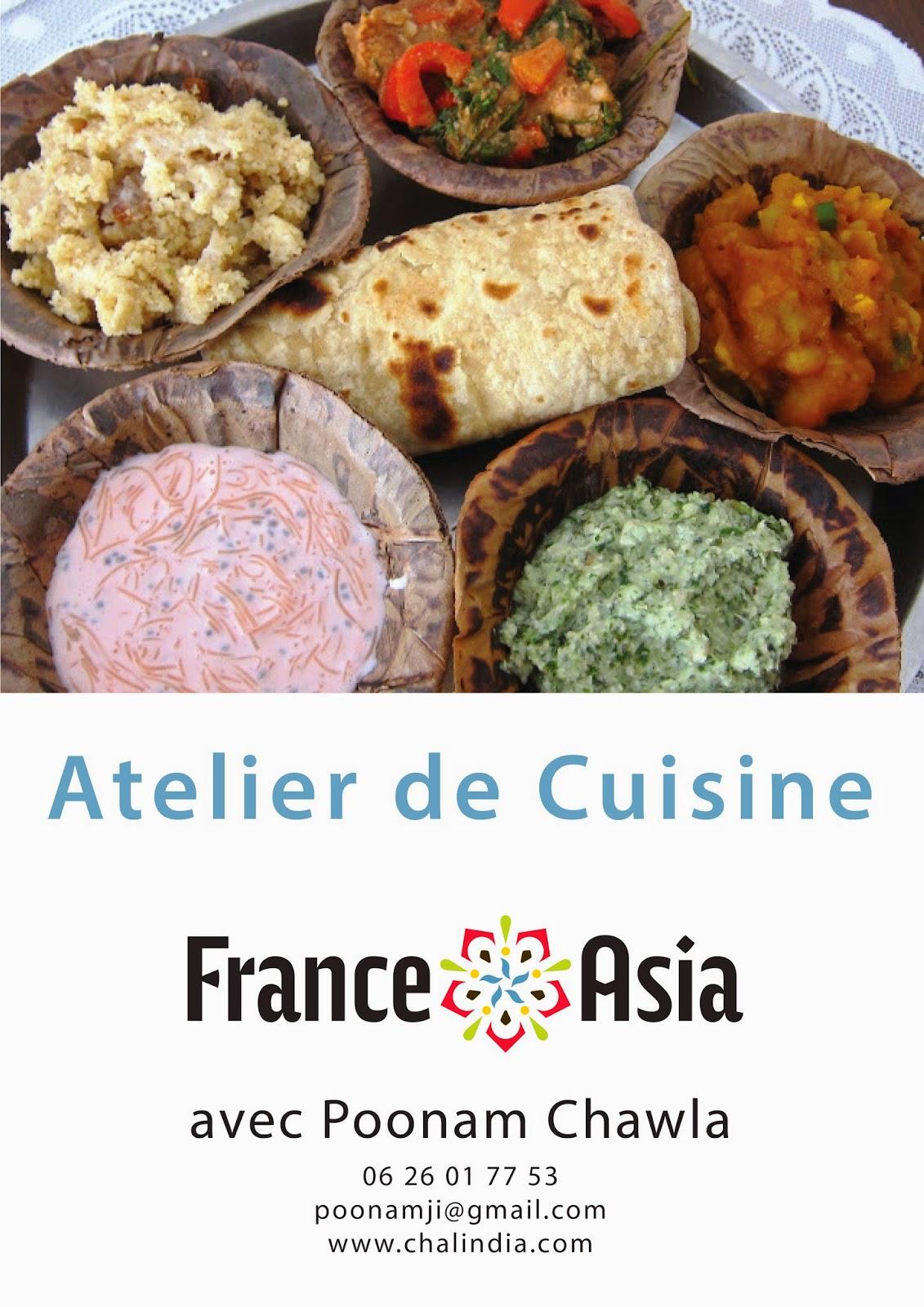 At liers de cuisine indienne en partenariat avec france - Ateliers de cuisine paris ...