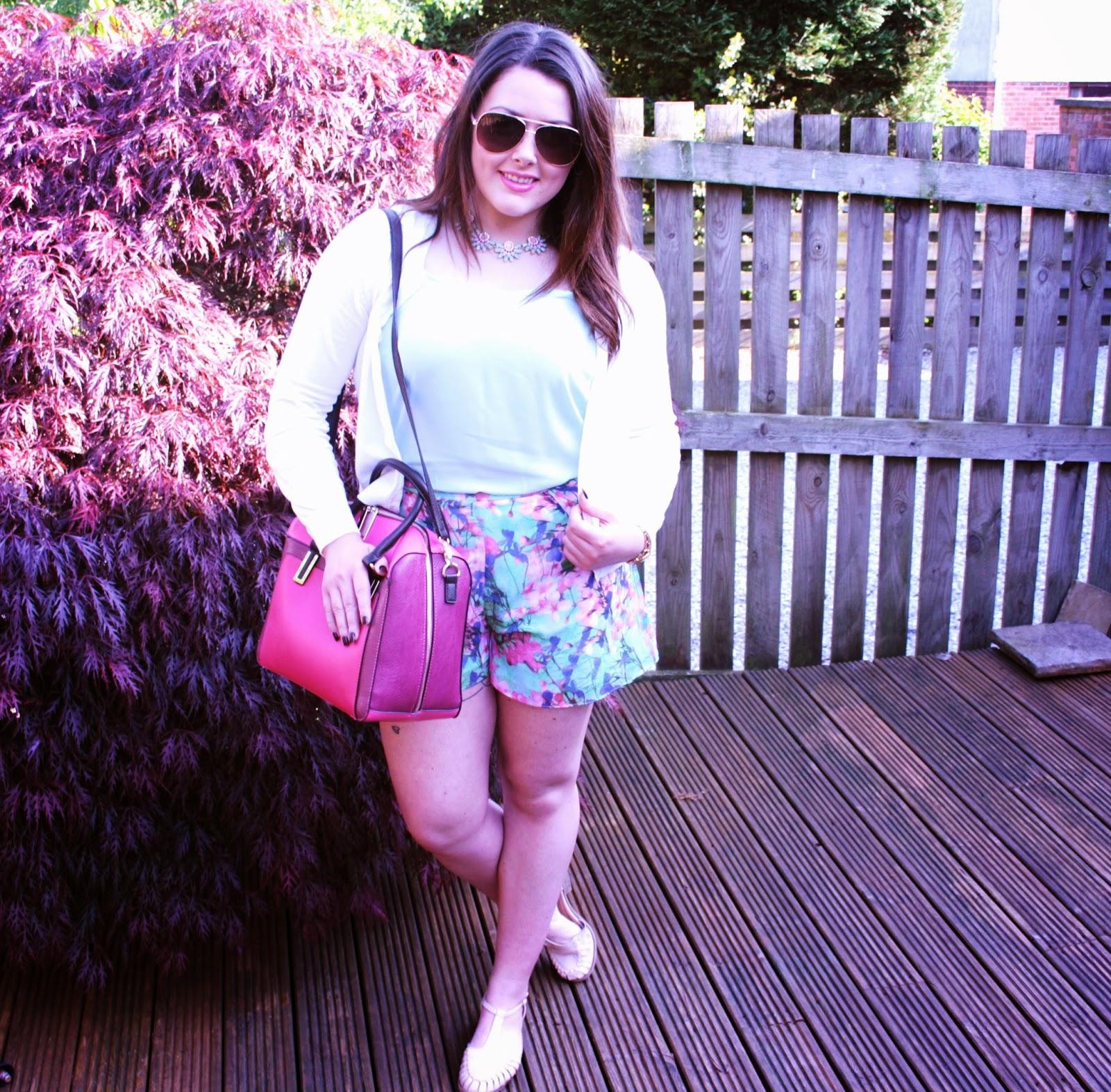 Primark flowery shorts