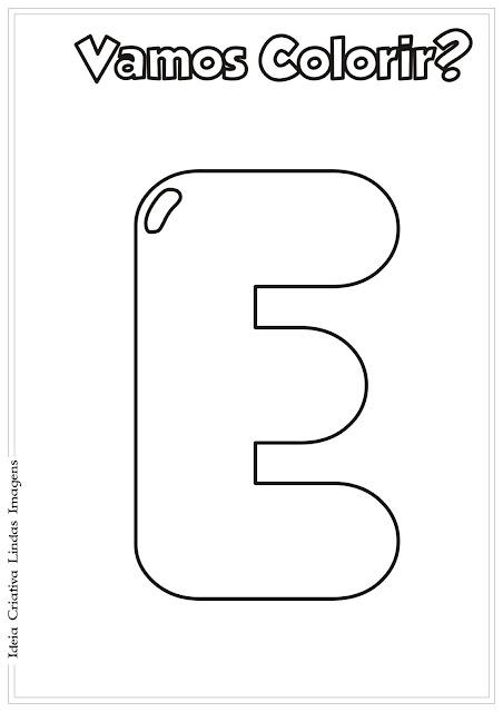 Alfabeto para colorir - Vogal E